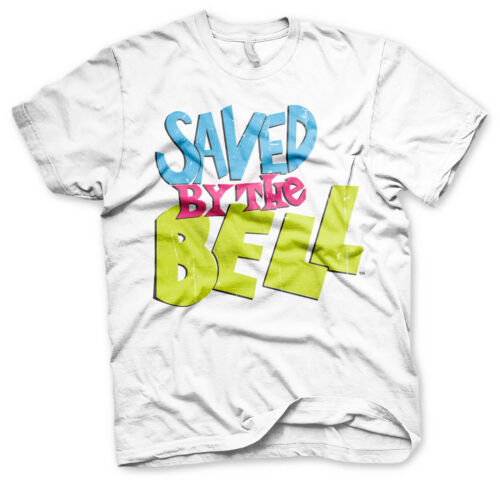 Officially Licensed Saved By The Bell Distressed Logo Men/'s T-Shirt S-XXL Sizes