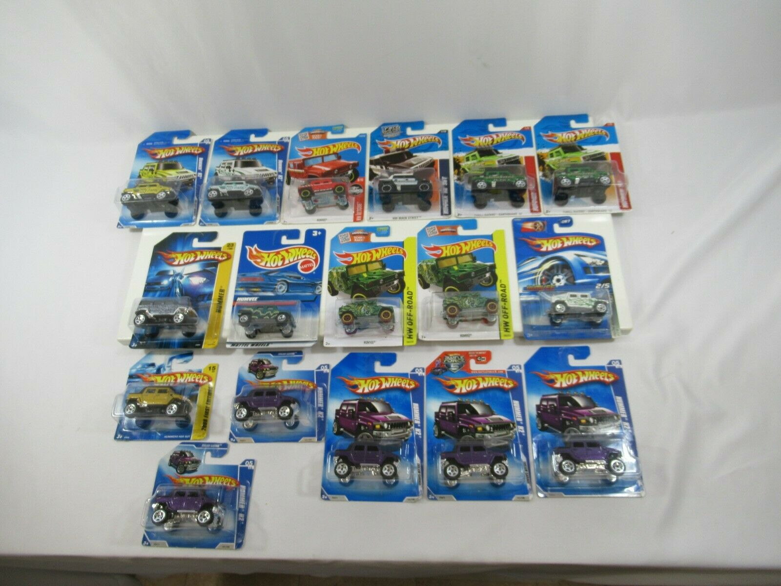 Hot Wheels Hummer H2 Humvee HW Rescue Thrill Racers Dream Garage Lot of 17 New