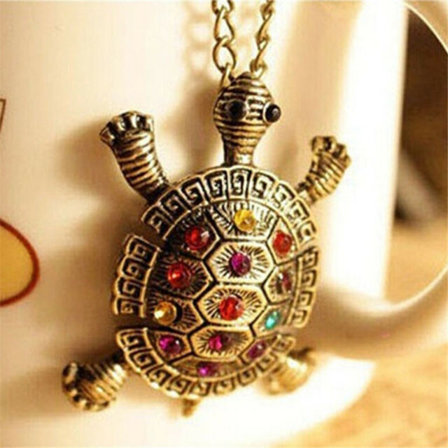 Women New Lovely Turtle Pendant Necklace Vintage Cute Sweater Chain Necklaces Z