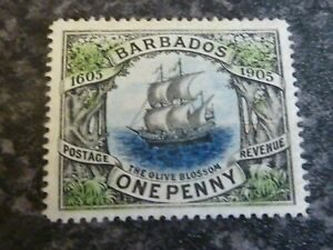 BARBADOS-POSTAGE-REVENUE-STAMP-SG152-1D-LIGHTLY-MOUNTED-MINT