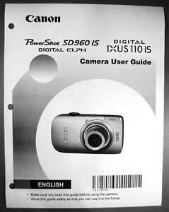 canon powershot sd960 is ixus 110 is digital camera user guide rh ebay com Canon PowerShot Sx200is Canon PowerShot SX 170