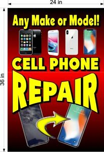 NEW-PERFORATED-WINDOW-VINYL-DECAL-2-039-X-3-039-CELL-PHONE-REPAIR-UNLOCKING