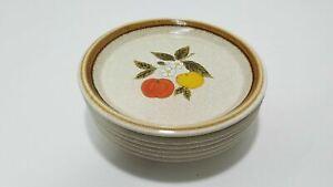 Mikasa F5812 Stone Manor Tempting Pattern Vintage Salad Plate Lot of 6 - M136
