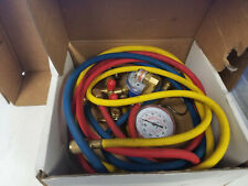 R134a Brass Manifold Gauge Set With 72 Color Hoses Quick Couplers Hvac Ac