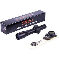 Smk 2x20 Pistol Gun Scope Telescopic Sight 1 Tube 30/30 Reticle Air Pistol