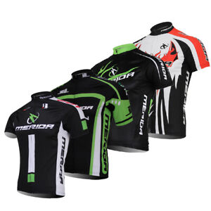 Merida-Cycling-Jersey-Top-Short-Sleeve-Men-039-s-Bicycle-Bike-Jersey-Shirts-S-5XL
