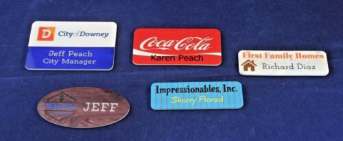 Personalized Full Color Name Badge NameTag 2x3 Customized the Way You Want It