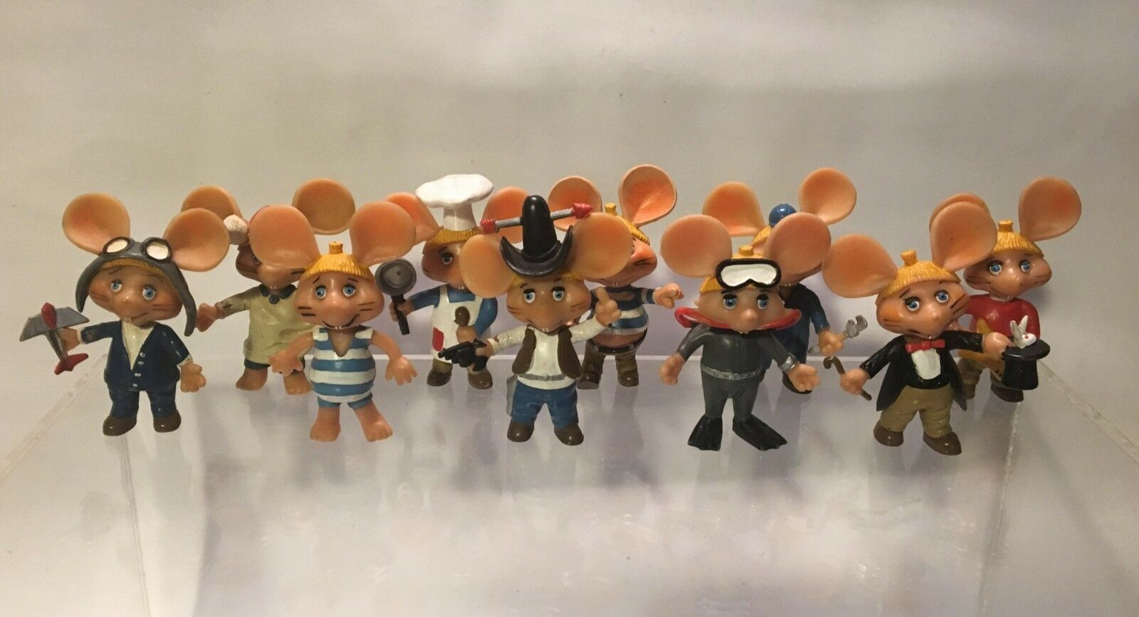 TOPO GIGIO COMP. COLLECTION 10 PVC FIGURES DISVENDA MAIA & BORGES PORTUGAL 1980s