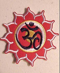 H7 om lotus flower 3 iron on patch hindu retro boho ebay image is loading h7 om lotus flower 3 034 iron on mightylinksfo