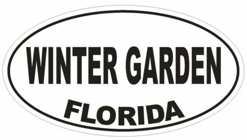 Winter Garden Florida Oval Bumper Sticker or Helmet Sticker D2640 Euro Decal