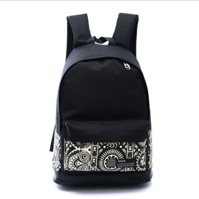 Travel Backpack Black Bags Women Lady Unisex Fashion School bag Rucksack Casual