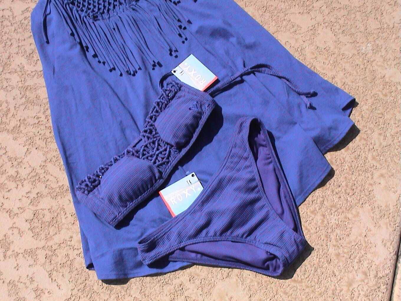 Traje De Baño de Bikini Bikini Bikini Azul ROXY & encubrir magnífico Medio Nuevo 5f5156