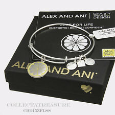 Authentic Alex and Ani Zest for Life (ii) CBD Shiny Silver Bangle