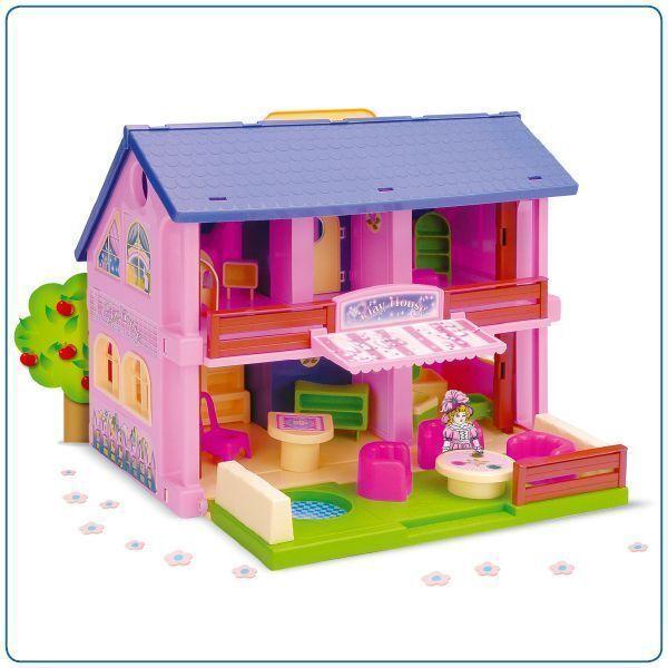 PLAY HOUSE CASA DELLE BAMBOLE CON MOBILI per bambini ragazze TOY DOLL HOUSE NUOVO di zecca