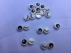 Lego-98138-Stein-rund-1x1-Augen-amp-Wimpern-10-25-Stuecker-oder-50-Stueck