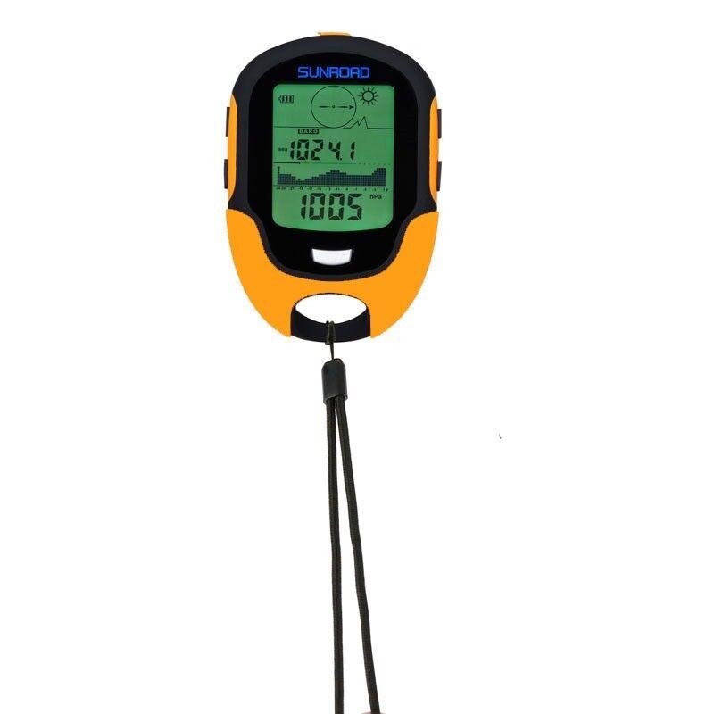 Sunroad FR500 Military Digital Altimeter Barometer Watch Thermometer orange