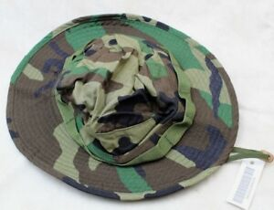 df3b8e4660e92 SALE  1990 S US ARMY ISSUE BOONIE HAT SUN WOODLAND CAMO TYPE-III ...