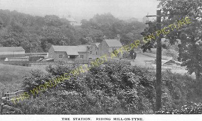 Corbridge Newcastle Line. Stocksfield Riding Mill Railway Station Photo 2