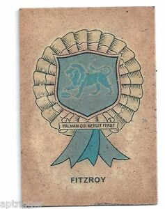 1968 Sun Valley Twisties FITZROY Rosette (You Will Receive on reverse) ##