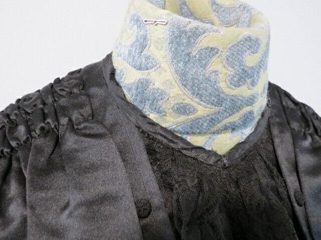 Antique 1880 - 1890's Black Silk Satin Bodice wit… - image 11
