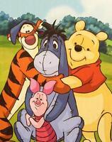 Disney Winnie The Pooh Throw Blanket Baby Size Pooh/eeyore/tigger/piglet