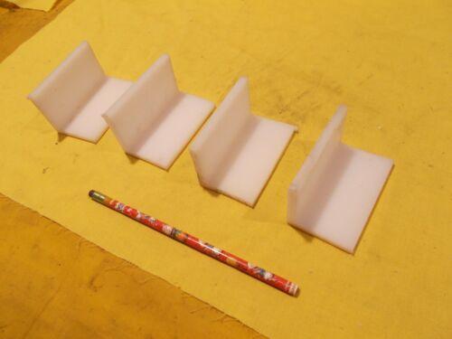 "4 pc LOT of UHMW ANGLE 1//4/"" x 2/"" x 2/"" x 3/"" LONG machinable plastic bar stock"