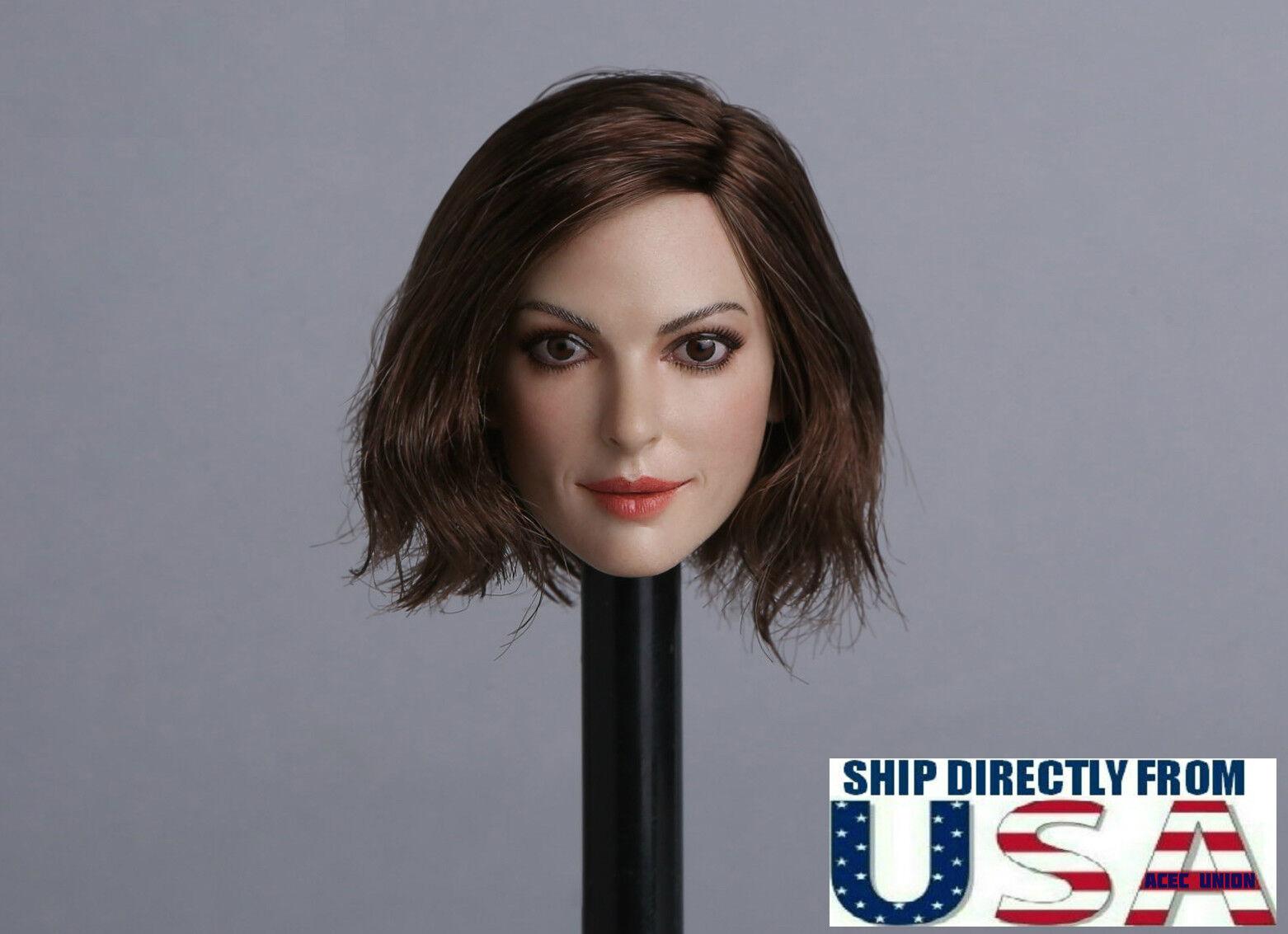 1 6 6 6 Female Head Sculpt B Short Hair For 12  PHICEN TBLeague Hot Toys Figure USA 6e9d88