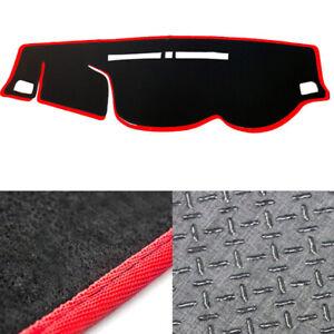 Non-Slip-Dash-Mat-Cover-Black-with-Red-Edge-for-2015-2019-Mitsubishi-Triton-RH