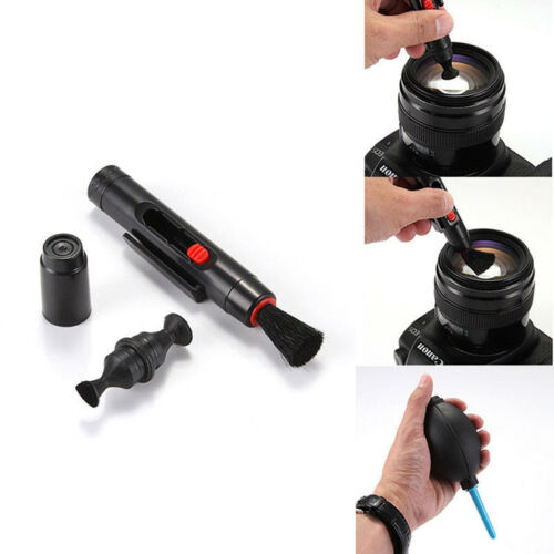 3 in 1 Lens Cleaner Set Pen Brush Dust Blower DSLR VCR Camera Cleaning Clothy3