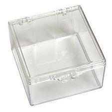 """KitsUSA K-6363 Clear Plastic Box-Size: 2""""L x 2""""W x 1 1/8""""D"""