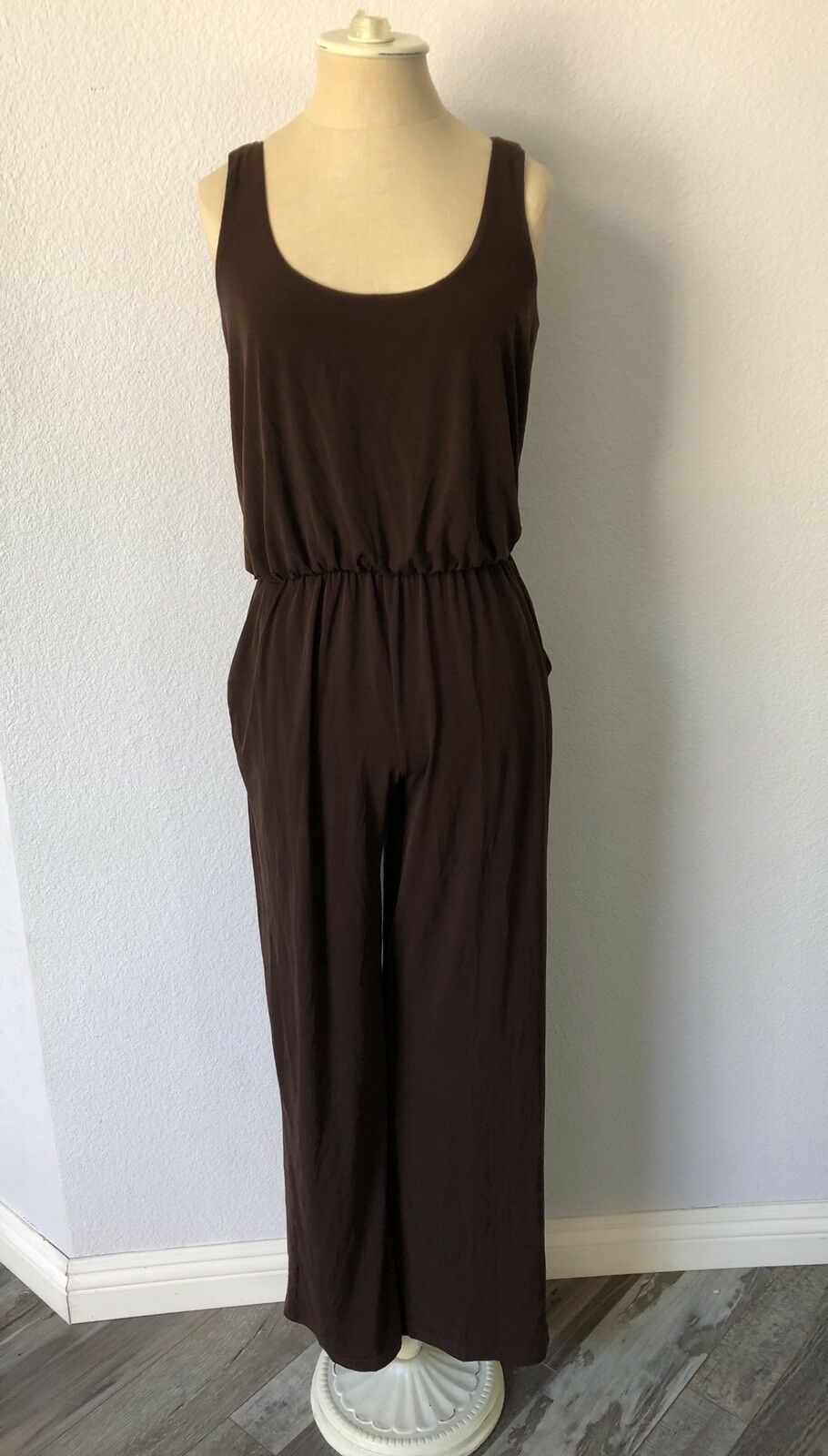 Boston Proper Size XS Brown Jumpsuit
