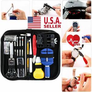 Watch-Repair-Kit-Watchmaker-Back-Case-Opener-Link-Remover-Spring-Pin-Bar-Tool-US