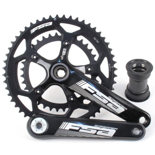 FSA Gossamer BBright//route triathlon vélo Pédalier 52//36 10//11 Vitesse 175mm////Noir
