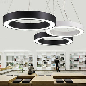 Modern office led pendant lights circle round suspension hanging image is loading modern office led pendant lights circle round suspension aloadofball Choice Image