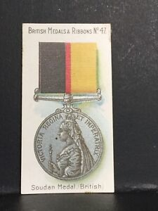Details about Taddy British Medals And Ribbons Cigarette Card Single No 47  Soudan British