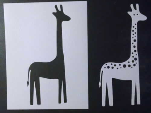 "Giraffe 2 Cut-Outs Multi Layer 8.5/"" x 11/"" Custom Stencil FAST FREE SHIPPING"