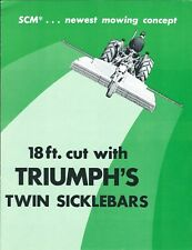 Equipment Brochure Triumph Scm Twin Sickle Bar Mower For Tractor E5455