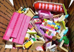 LEGO-100-FRIENDS-BULK-LOT-OF-4-POUNDS-Washed-Bulk-Bricks-parts-pieces