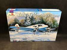 Yak-6m With Ski Gear Scale Plastic Model Kit by Amodel 72181