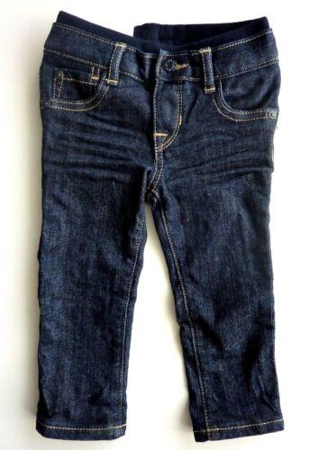 Baby GAP Boys DARK BLUE Creased Denim Straight Pull On Jeans Pants 6-12m £14.95