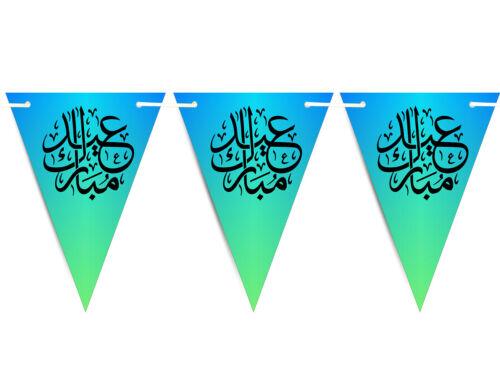Eid MUBARAK mubrook islámica árabe empavesado banderas islámicas Decoraciones Fiesta S14