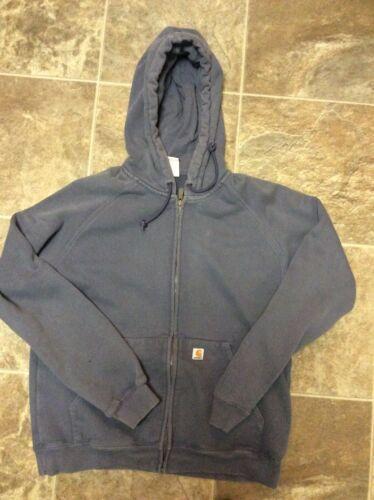 Carhartt Women's Hooded Fleece Jacket Full Zip Gra