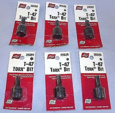 47 Torx Sockets Wholesale Lot of 6 Lisle 26500 T