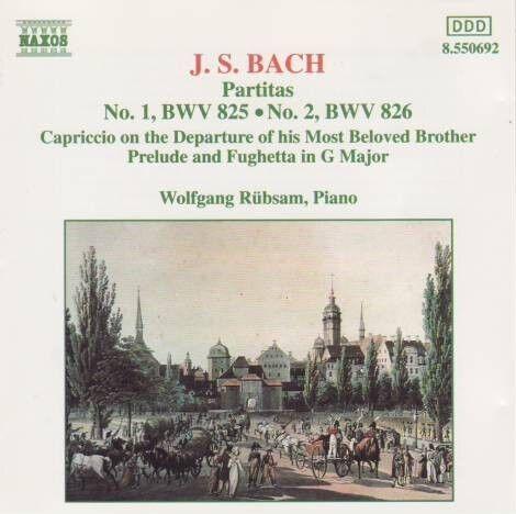 1 von 1 - J.S. Bach - Partitas 1 & 2 (Rübsam) CD