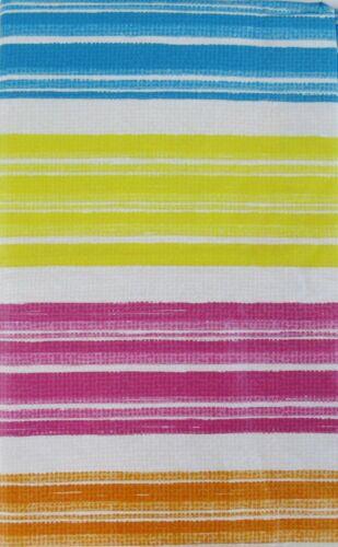 Rainbow//Beach//Streak Stripe Vinyl Tablecloth w//Zipper Umbrella Hole Var Size