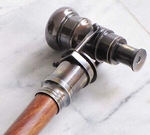 Belle Nautique Collectible Finition Antique Brass Telescope Spyglass Canne-afficher Le Titre D'origine Chaud Et Coupe-Vent