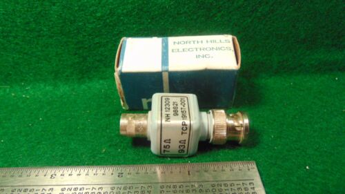 1 North Hills Elec 75 to 93 ohm Matching Transformer NH 12309