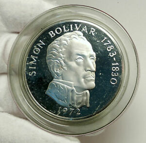 1972-PANAMA-Huge-6-2cm-Proof-Silver-3-8oz-20-Balboas-Coin-w-SIMON-BOLIVAR-i76337