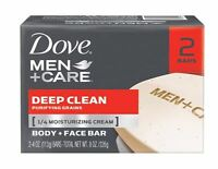 Dove Men + Care Dove Men+care Body And Face Bars 2 Pack Deep Clean 8.50 Oz on sale