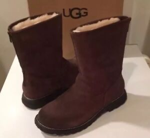 b46e5d91380 Details about New Classic Ugg Langley Chocolate Suede Boots Sz 12 ❤️❤️❤️